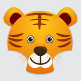 Vector image of cute face of tiger Royalty Free Stock Image