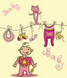 Baby things Royalty Free Stock Photo