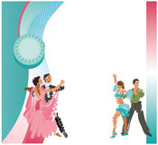 Vector image of dancing couples Stock Photo