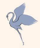 Vector Image. Dancing Crane Royalty Free Stock Photo