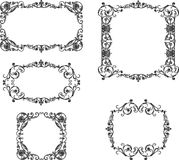 A set of the ancient decorative frames. Vector image of the decorative frames in vintage style Royalty Free Illustration