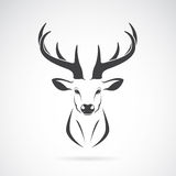 Vector image of an deer head design Royalty Free Stock Photos