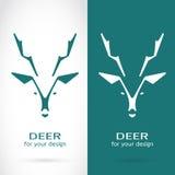 Vector image of a deer head design Royalty Free Stock Photos