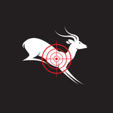 Vector image of a deer target Stock Photos