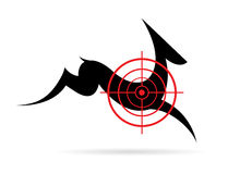 Vector image of a deer target. On a white background stock illustration