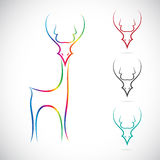 Vector image of an deer Royalty Free Stock Image