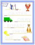 Tracing letter L for study English alphabet. Printable worksheet for kids. Logic puzzle game. Education page for kindergarten. Vector image. Developing children royalty free illustration