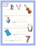 Tracing letter V for study English alphabet. Printable worksheet for kids. Logic puzzle game. Education page for kindergarten. Vector image. Developing children vector illustration