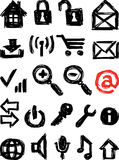 Computer icons. Vector image of the different computer icons stock illustration