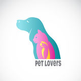 Vector image of an dog cat and bird Royalty Free Stock Image