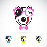 Vector image of a dog glasses Royalty Free Stock Photo