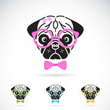 Vector image of a dog glasses Royalty Free Stock Images