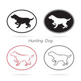 Vector image of an dog hunting Stock Image