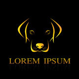 Vector image of an dog labrador. On black background Royalty Free Stock Photo