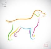 Vector image of an dog labrador Royalty Free Stock Photos
