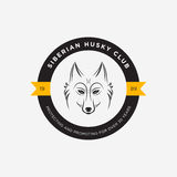 Vector image of a dog siberian husky design on white background  Royalty Free Stock Photos