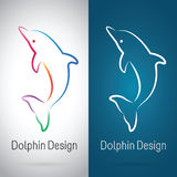 Vector image of an dolphin design Royalty Free Stock Photography