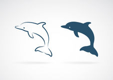 Vector image of an dolphin Royalty Free Stock Images