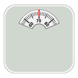 Domestic floor scales. Vector image of domestic floor scales Royalty Free Stock Images