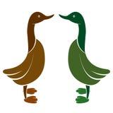 Vector image of an duck Stock Photos