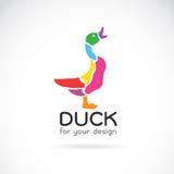 Vector image of a duck design Royalty Free Stock Photos