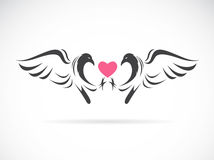 Vector image of a eagle and heart Stock Images