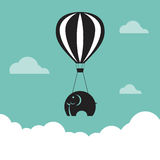 Vector image of elephant with balloons Royalty Free Stock Photos