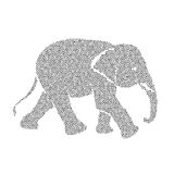 Vector image of an elephant design Royalty Free Stock Photo