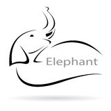 Vector image of an elephant Royalty Free Stock Image