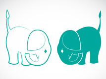 Vector image of an elephant Royalty Free Stock Images