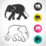 Vector image of an elephant stock illustration