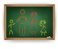 Vector image. Family Stock Photography