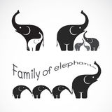 Vector image of family elephants Royalty Free Stock Images