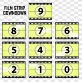Vector image film strip cowndown. Vector image film strip for your background Royalty Free Stock Images