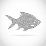 Vector image of an fish design. On a white background Royalty Free Stock Image