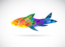 Vector image of an fish polygonal Royalty Free Stock Photos