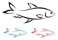 Vector image of an fish Stock Photos