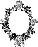 Floral ancient frame Stock Images