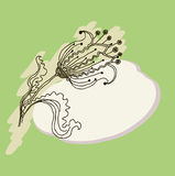 Vector image of a flower in vintage style Royalty Free Stock Photography
