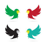 Vector image of an flying bird Royalty Free Stock Image