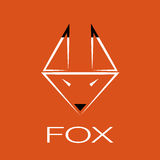 Vector image of an fox design Stock Photos