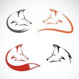 Vector image of an fox design Stock Photography
