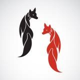 Vector image of an fox design Stock Photos