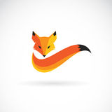 Vector image of an fox design. Stock Photography
