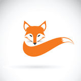 Vector image of a fox design on a white background. Royalty Free Stock Photos