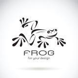 Vector image of a frog design on white background, Frog Logo. Stock Image