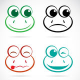 Vector image of an frog face Stock Images