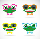 Vector image of a frog wear glasses Stock Image