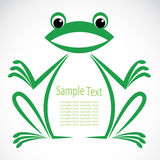 Vector image of an frog stock illustration
