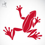 Vector image of an frog Stock Photography
